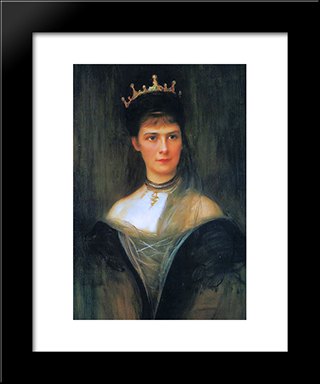 Empress Elisabeth Of Austria: Modern Black Framed Art Print by Philip de Laszlo