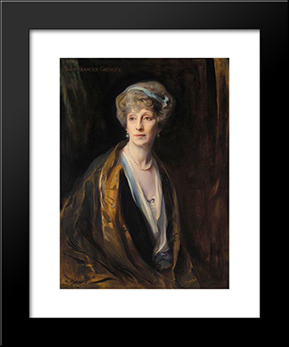 Lady Frances Gresley: Modern Black Framed Art Print by Philip de Laszlo