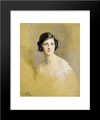 Portrait Of Lady Rachel Cavendish: Modern Black Framed Art Print by Philip de Laszlo