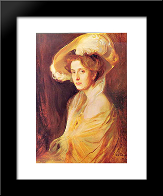 Princess Louise Mountbatten: Modern Black Framed Art Print by Philip de Laszlo