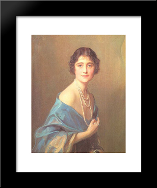 The Duchess Of York: Modern Black Framed Art Print by Philip de Laszlo