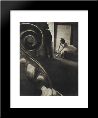Behind The Scenes: Modern Black Framed Art Print by Pierre Dubreuil