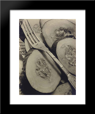 Cucumbers (Concombres): Modern Black Framed Art Print by Pierre Dubreuil