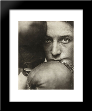 The First Round: Modern Black Framed Art Print by Pierre Dubreuil