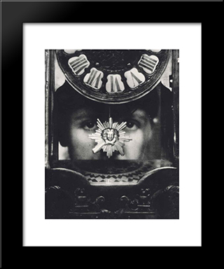 Tomorow Is Mystery: Modern Black Framed Art Print by Pierre Dubreuil