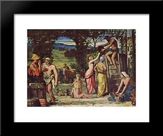 Autumn: Modern Black Framed Art Print by Pierre Puvis de Chavannes