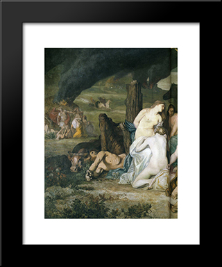 Bellum, War: Modern Black Framed Art Print by Pierre Puvis de Chavannes