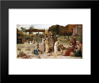 Cider: Modern Black Framed Art Print by Pierre Puvis de Chavannes