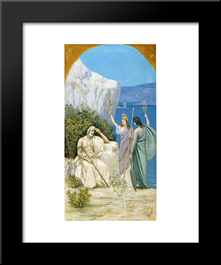 Homer Epic Poetry: Modern Black Framed Art Print by Pierre Puvis de Chavannes