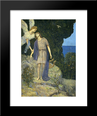 Orpheus: Modern Black Framed Art Print by Pierre Puvis de Chavannes