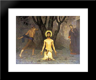 The Beheading Of St. John The Baptist: Modern Black Framed Art Print by Pierre Puvis de Chavannes