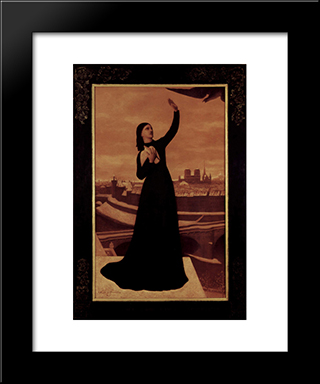 The Birds: Modern Black Framed Art Print by Pierre Puvis de Chavannes