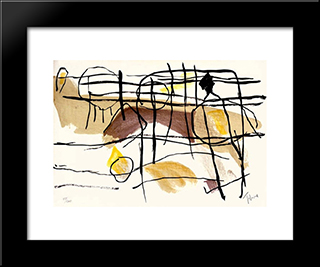 Age De Fer Ii: Modern Black Framed Art Print by Pierre Tal Coat