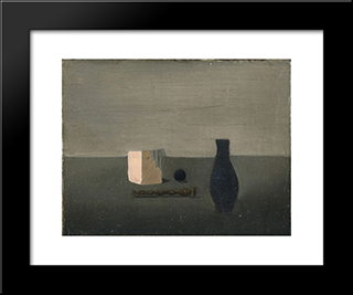 Blue Vase: Modern Black Framed Art Print by Pierre Tal Coat