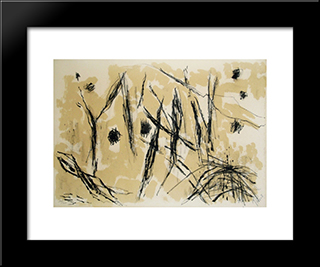 Composition Iv: Modern Black Framed Art Print by Pierre Tal Coat