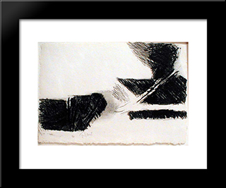 Dans Le Bourdonnement Ii: Modern Black Framed Art Print by Pierre Tal Coat