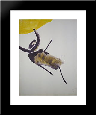 Insecte: Modern Black Framed Art Print by Pierre Tal Coat