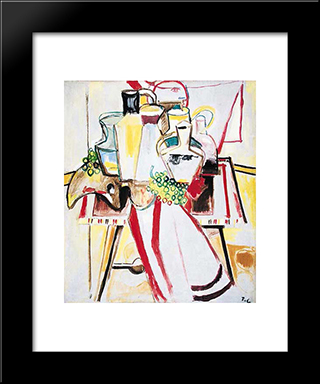 Nature Morte Sur La Table: Modern Black Framed Art Print by Pierre Tal Coat