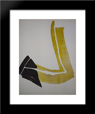 Penchee Ii: Modern Black Framed Art Print by Pierre Tal Coat