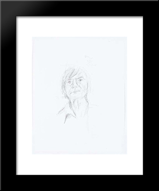 Self - Portrait: Modern Black Framed Art Print by Pierre Tal Coat