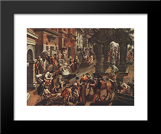 Apostles Peter And John: Modern Black Framed Art Print by Pieter Aertsen