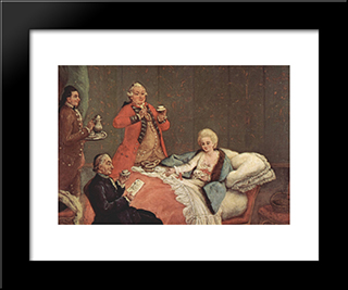 Early Morning Chocolate: Modern Black Framed Art Print by Pietro Longhi