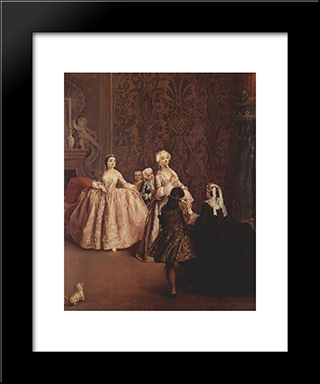 Presentation: Modern Black Framed Art Print by Pietro Longhi