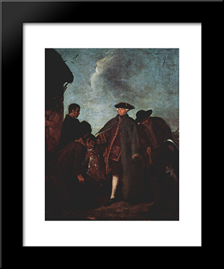 The Arrival Of The Nobleman: Modern Black Framed Art Print by Pietro Longhi