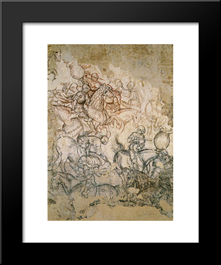 Tournament Battle: Modern Black Framed Art Print by Pisanello