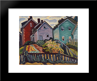 Back Garden: Modern Black Framed Art Print by Prudence Heward