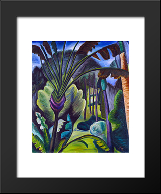 In Bermuda: Modern Black Framed Art Print by Prudence Heward