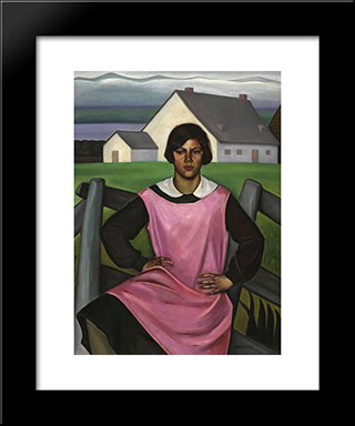 Rollande: Modern Black Framed Art Print by Prudence Heward