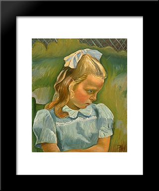Sarah Eliot: Modern Black Framed Art Print by Prudence Heward