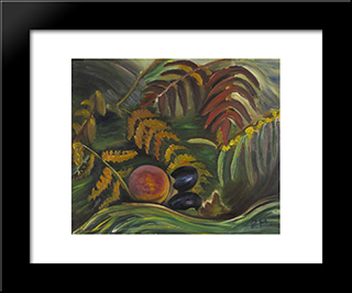 September: Modern Black Framed Art Print by Prudence Heward