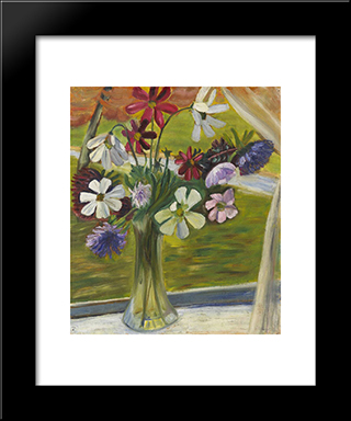 Vase Of Flowers Ii: Modern Black Framed Art Print by Prudence Heward