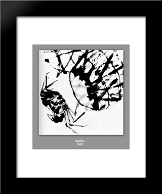 Crabs : Custom Black Wood Framed Art Print by Qi Baishi