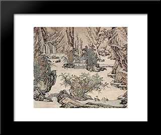 Landscape: Modern Black Framed Art Print by Qiu Ying