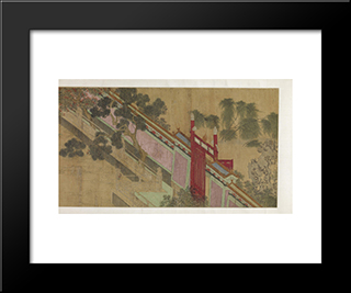 Spring Morning In The Han Palace (View A): Modern Black Framed Art Print by Qiu Ying