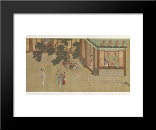 Spring Morning In The Han Palace (View C): Modern Black Framed Art Print by Qiu Ying