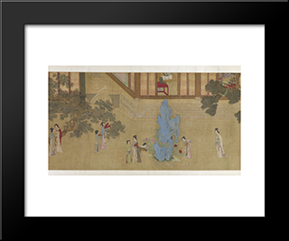 Spring Morning In The Han Palace (View D): Modern Black Framed Art Print by Qiu Ying