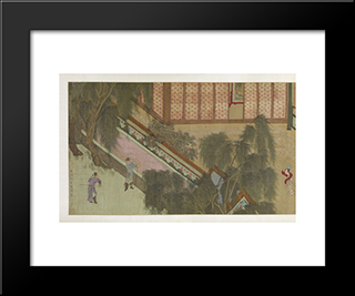 Spring Morning In The Han Palace (View J): Modern Black Framed Art Print by Qiu Ying