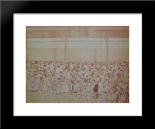 The Imperial Examinations: Modern Black Framed Art Print by Qiu Ying