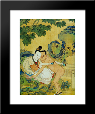 Unknown Title: Modern Black Framed Art Print by Qiu Ying