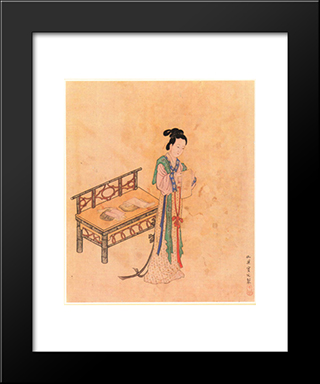 Xue Tao: Modern Black Framed Art Print by Qiu Ying