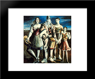 Family Of Puppeteers: Modern Black Framed Art Print by Rafael Zabaleta