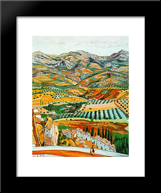 Landscape And Fique Vault: Modern Black Framed Art Print by Rafael Zabaleta