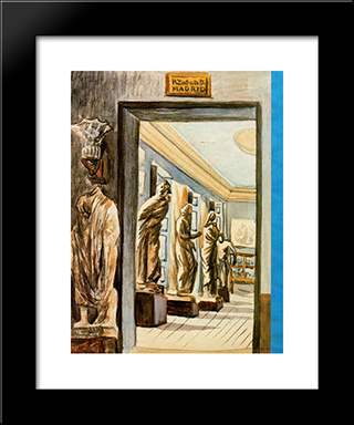 National Museum Of Archaeology: Modern Black Framed Art Print by Rafael Zabaleta