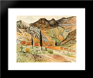 Quesada Cemetery: Modern Black Framed Art Print by Rafael Zabaleta