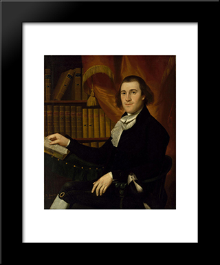 Portrait Of Dr. Mason Fitch Cogswell: Modern Black Framed Art Print by Ralph Earl