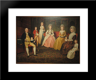 The Angus Nickelson Family: Modern Black Framed Art Print by Ralph Earl